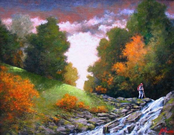 Wall Art - Painting - Rock Creek by Jim Gola