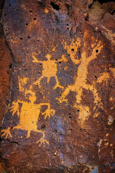 Wall Art - Photograph - Rock Drawings At La Cieneguilla Petroglyph Site by Garry Gay
