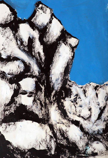 Wall Art - Painting - Rock Face by Rob Woods