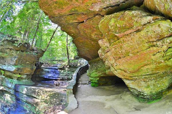 Photograph - Rock Formation At Hocking Hill Ohio by Lisa Wooten