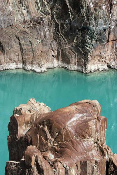 Photograph - Rock Formation Of Zanskar, Ladakh, 2009 by Hitendra SINKAR