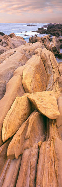 Montana De Oro State Park Photograph - Rock Formations At The Coast, Montana by Panoramic Images