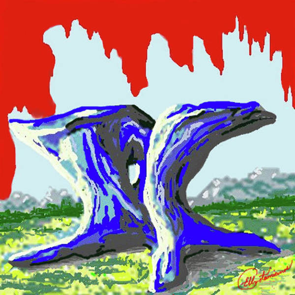 Painting - Rock Formations by Elly Potamianos