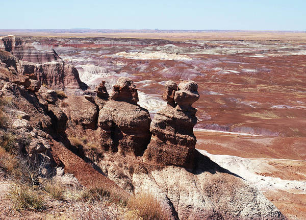 Photograph - Rock Formations In The Painted Desert by Mary Capriole