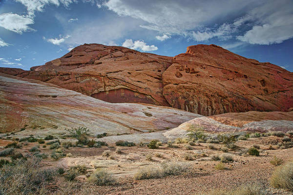 Historical Marker Photograph - Rock Formations - Valley Of Fire - Nevada by Nikolyn McDonald