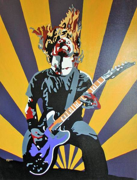 Dave Grohl Painting - Rock God by Gary Holden