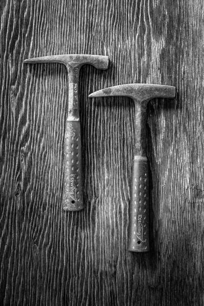 Wall Art - Photograph - Rock Hammers On Plywood In Bw 65 by YoPedro