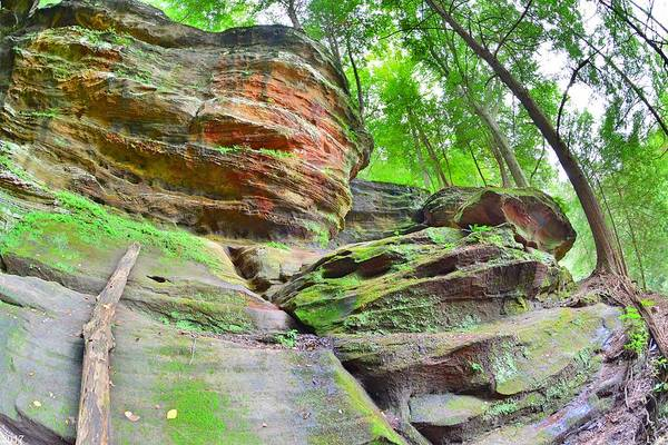 Photograph - Rock House From The Outside Hocking Hills Ohio 2 by Lisa Wooten