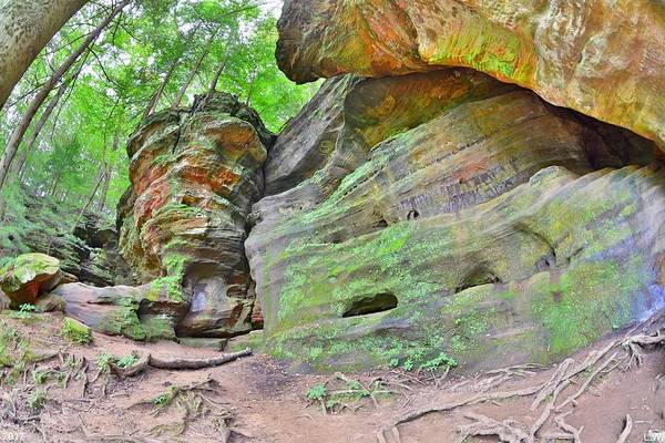 Photograph - Rock House From The Outside Hocking Hills Ohio 3 by Lisa Wooten