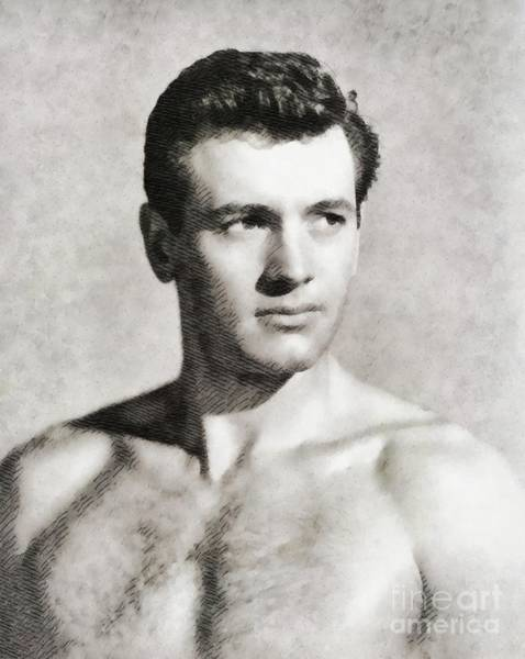 Stardom Painting - Rock Hudson, Vintage Actor by John Springfield