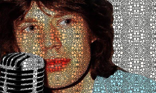 Rocker Painting - Rock Legend - Mick Jagger Tribute by Sharon Cummings