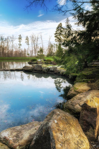 Boulders Photograph - Rock Lined Pond by Tom Mc Nemar