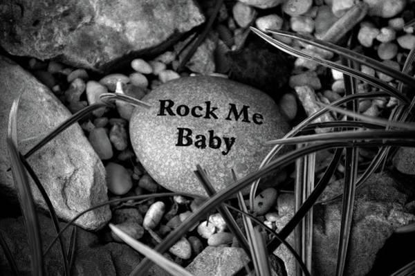Photograph - Rock Me Baby Bw by Lesa Fine