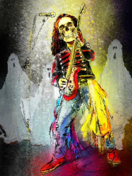 Painting - Rock N Roll The Bones by Miki De Goodaboom