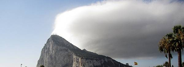Photograph - Rock Of Gibraltar Cloud IIi Uk Territory by John Shiron