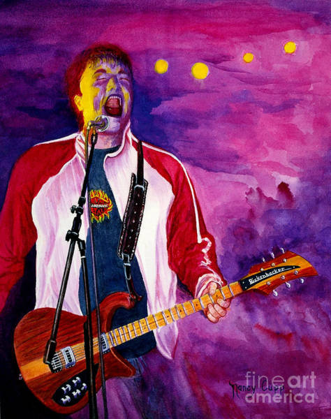 Art Print featuring the painting Rock On Tom by Nancy Cupp