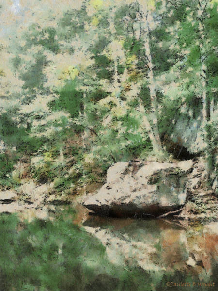 Painting - Rock Overhang by Paulette B Wright