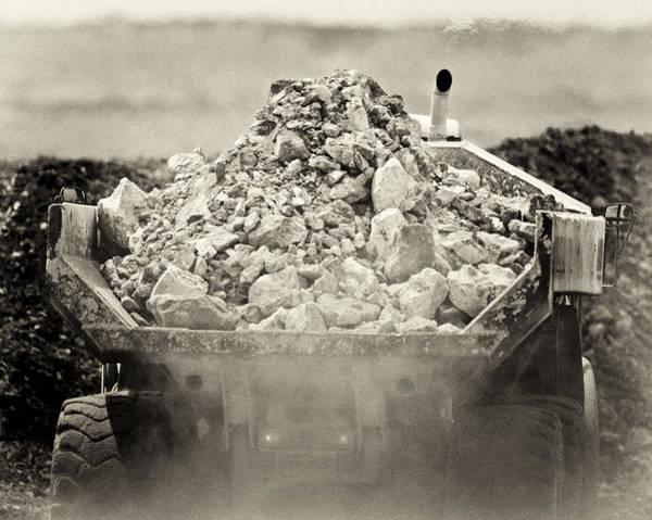 Dump Truck Photograph - Rock by Patrick M Lynch