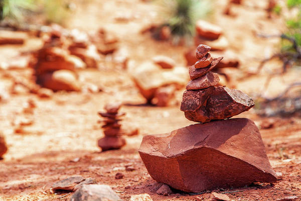 Wall Art - Photograph - Rock Pile At Vortex In Sedona Arizona by Susan Schmitz
