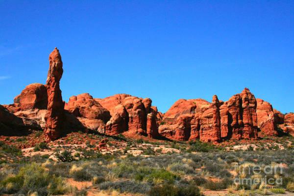 Wall Art - Painting - Rock Pillar Sandstone Hoodoos Arces National Park by Corey Ford