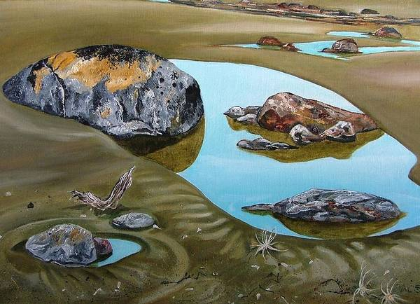 Painting - Rock Pool No. 2 by Val Stokes