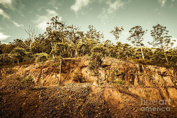 Excavation Photograph - Rock Quarry Landscape by Jorgo Photography - Wall Art Gallery