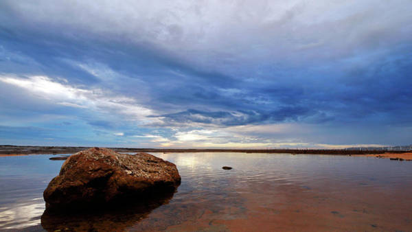 Photograph - Rock Shelf At Narrabeen Headland by Nicholas Blackwell