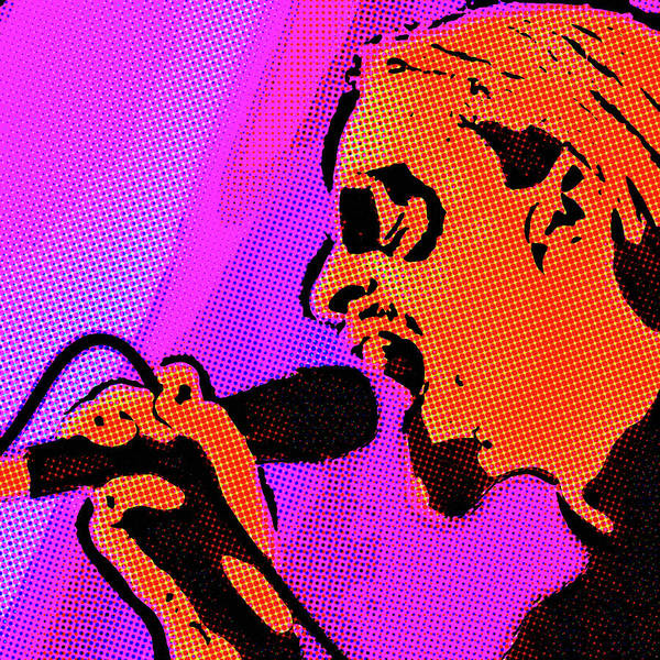 Photograph - Rock Singer Pop Art by SR Green
