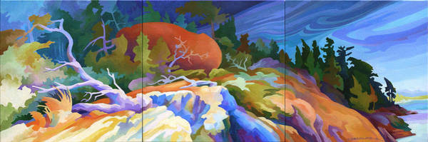 Bluffs Painting - Rock Symphonia by Dianne Bersea