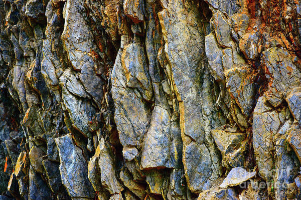 Aroostook Photograph - Rock Textures by William Tasker