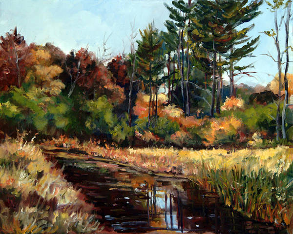 Painting - Rock Valley College Campus Rockford Il by Ingrid Dohm