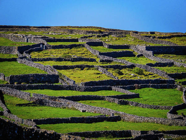 Photograph - Rock Walls Of Inisheer, Aran Islands by James Truett