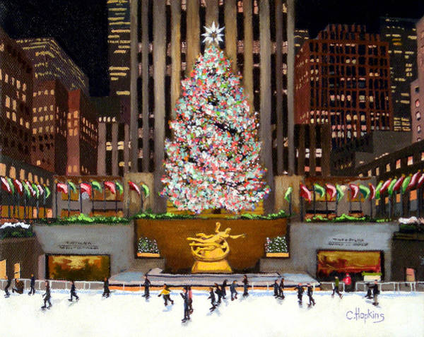 Wall Art - Painting - Rockefeller Center - New York City by Christine Hopkins