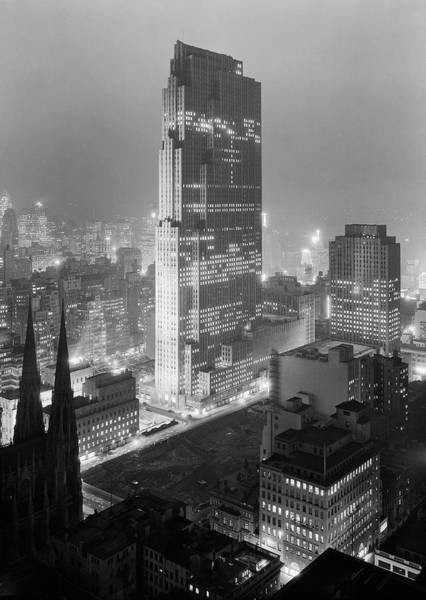 Wall Art - Photograph - Rockefeller Center - Nyc - Winter 1933 by War Is Hell Store