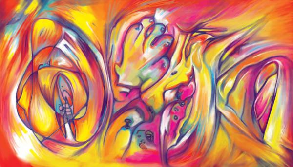 Fragment Digital Art - Rocket by Julianne Black DiBlasi