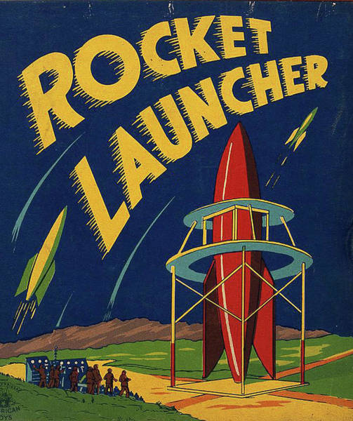Rocket Painting - Rocket Launcher, Illustration For A Toy Box by Long Shot