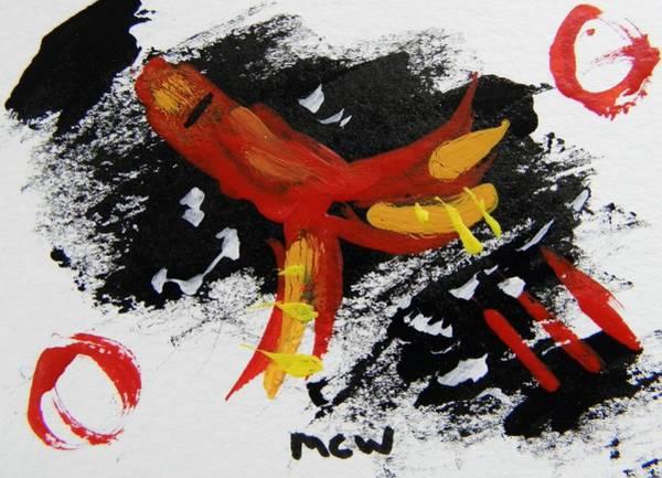Atc Painting - Rocket Man by Mary Carol Williams