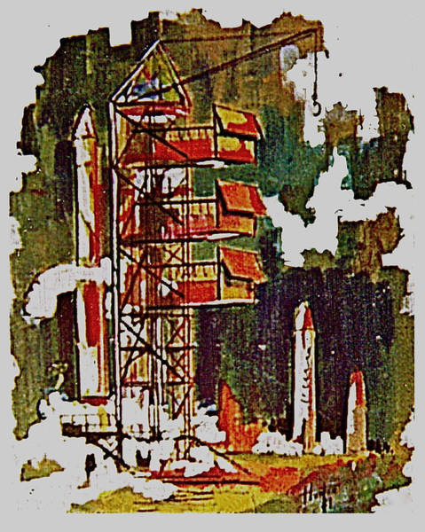 Painting - Rockets To Mars by Frank Hunter