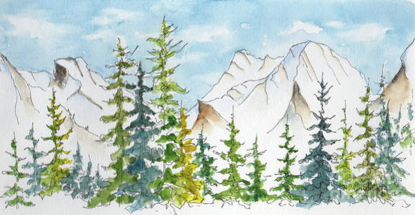 Painting - Rockies From The Rimrock by Pat Katz