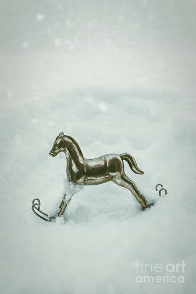 Wall Art - Photograph - Rocking Horse In Snow by Amanda Elwell