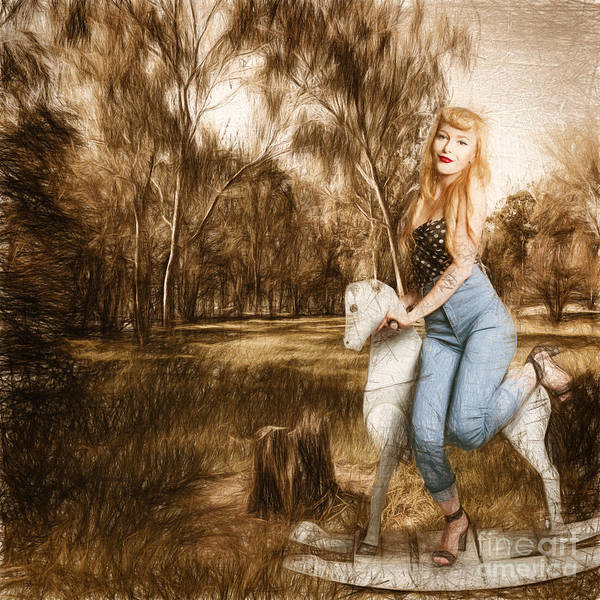 Photograph - Rocking Horse Pin Up by Jorgo Photography - Wall Art Gallery