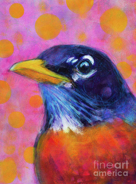 Rosemary Painting - Rocking Robin by Rosemary Conroy