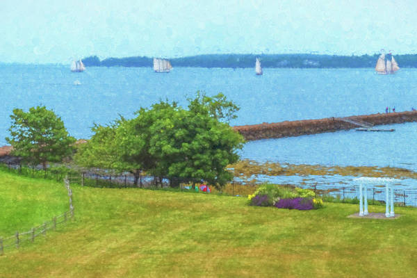 Photograph - Rockland Harbor Boats by Tom Singleton