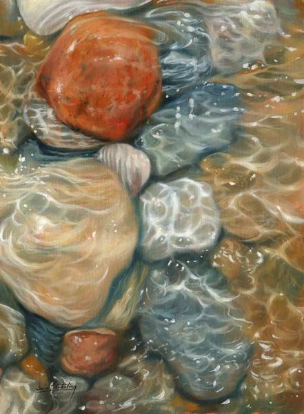 Pebble Painting - Rockpool by David Stribbling