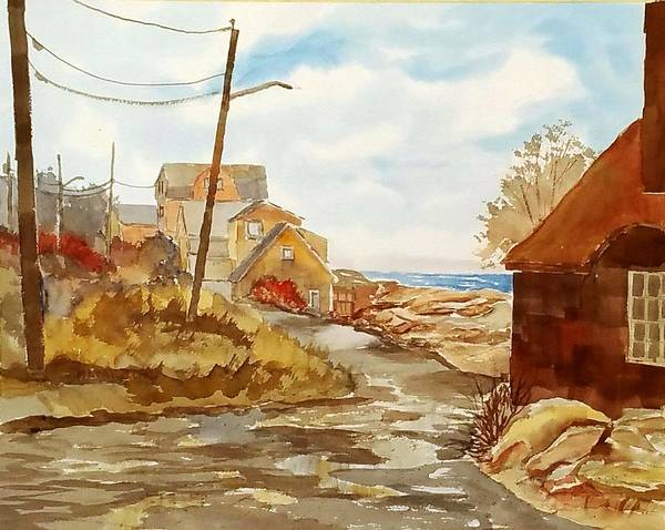 Painting - Rockport Coast by Larry Hamilton