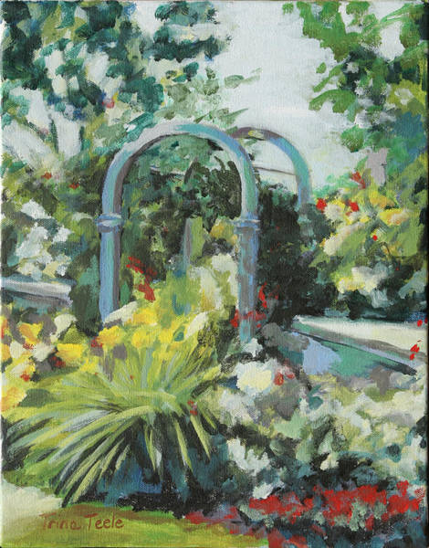 Painting - Rockport Garden Gate by Trina Teele