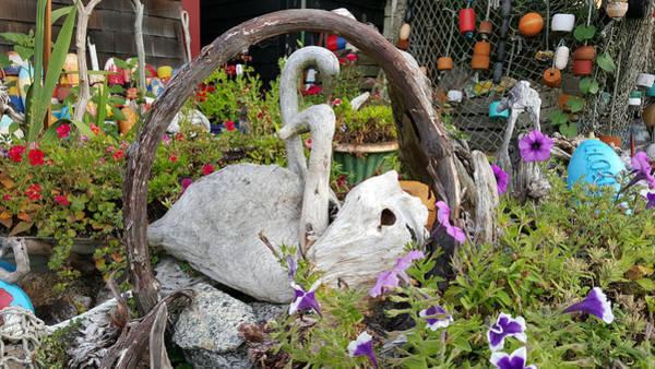 Photograph - Rockport Garden Sculptures by Jeff Folger