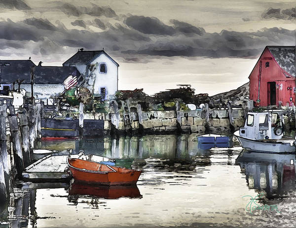 Photograph - Rockport Harbor Early Morning by Tom Cameron