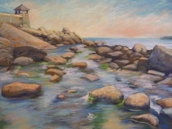 Wall Art - Painting - Rockport Harbour by Leslie Alfred McGrath