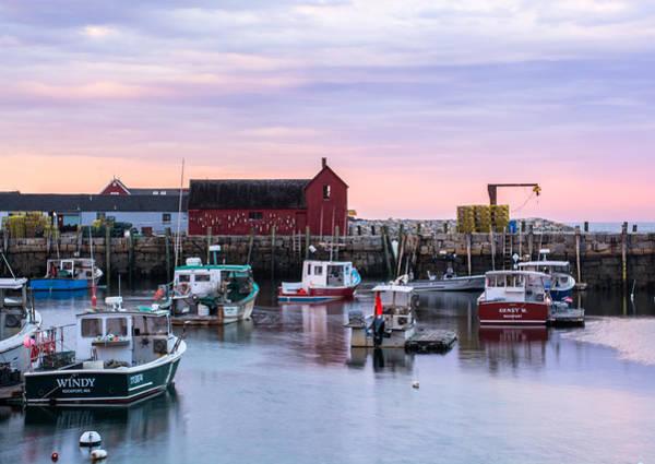 Photograph - Rockport Waterfront With Motif No 1 by Nancy De Flon